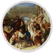The Seven Ages Of Man Round Beach Towel