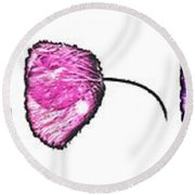 The Seven Poppies  Round Beach Towel