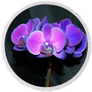 The Shade Of Orchids Round Beach Towel