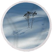 The Shadow Of Loneliness Round Beach Towel