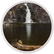 The Shallows Waterfall 2 Round Beach Towel