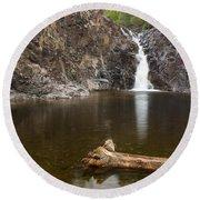 The Shallows Waterfall 3 Round Beach Towel