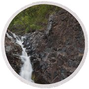 The Shallows Waterfall 4 Round Beach Towel