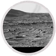The Slopes Of Husband Hill Round Beach Towel