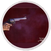 The Smoking Gun Round Beach Towel