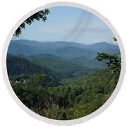 The Smoky Mountains Round Beach Towel