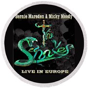 The Snakes Live In Europe Round Beach Towel