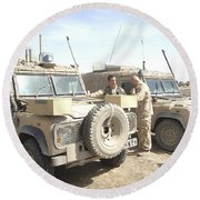 The Snatch Land Rover Used Round Beach Towel