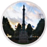 The Soldiers And Sailors Monument In Lafayette Square  Round Beach Towel