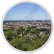 The Southern City Of Birmingham Alabama Round Beach Towel