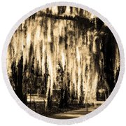 The Spanish Moss Round Beach Towel