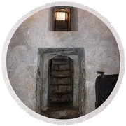 The Stairs To John The Baptist Tomb Round Beach Towel