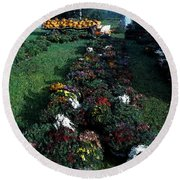 The Stand In Autumn Round Beach Towel by Wayne King