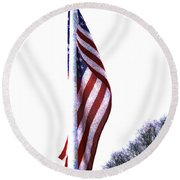 The Star Spangled Banner Round Beach Towel