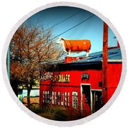 The Steakhouse On Route 66 Round Beach Towel