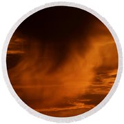 The Storm Is Brewing Round Beach Towel