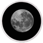 The Supermoon Of March 19, 2011 Round Beach Towel by Phillip Jones