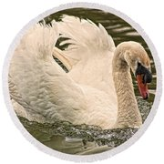 The Swan Round Beach Towel