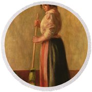 The Sweeper Round Beach Towel