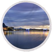 The Tempe Arts Center  Round Beach Towel