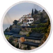 The Terraces Of Amalfi Round Beach Towel