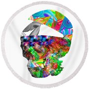 The Thought Escapes Me Round Beach Towel