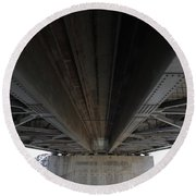 The Three Benicia-martinez Bridges In California - 5d18842 Round Beach Towel