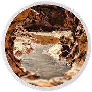 The Tide Is Out Round Beach Towel