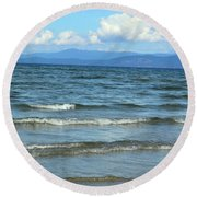 The Tide Was High Round Beach Towel