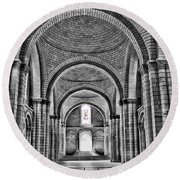 The Tombs At Fontevraud Abbey   France Round Beach Towel