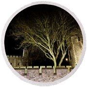 The Tower Of London At Night  Round Beach Towel