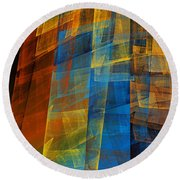 The Towers 2 Round Beach Towel