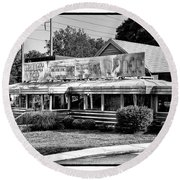 The Trolley Car Diner - Chestnut Hill Philadelphia Round Beach Towel