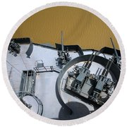 The Twin Bofors 40mm Anti-aircraft Round Beach Towel by Michael Wood