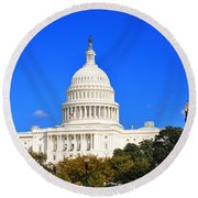 The United States Capitol Round Beach Towel