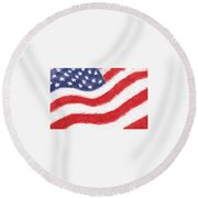 The United States Flag Round Beach Towel