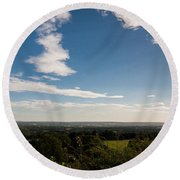 The Vale Of Kent Round Beach Towel