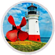 The Vermillion Light Round Beach Towel