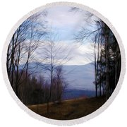 The Vermont Woods - Stowe Round Beach Towel