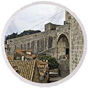 The Wall In Dubrovnik Round Beach Towel