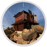 The Watchman Tower Round Beach Towel