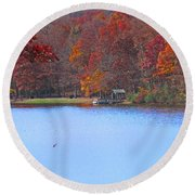 The Watershed Round Beach Towel