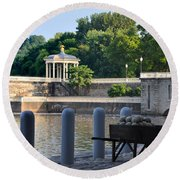 The Waterworks Wheelbarrow - Philadelphia Round Beach Towel