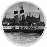 The Waverley Paddle Steamer Mono Round Beach Towel