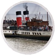 The Waverley Paddle Steamer Round Beach Towel