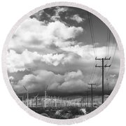 The Way Of The Wind Palm Springs Round Beach Towel