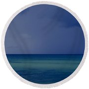 The Weather Is Changing Round Beach Towel