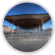 The Welsh Assembly Building 2 Round Beach Towel