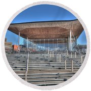 The Welsh Assembly Building Round Beach Towel