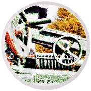 The Wheels Of War Keep On Turning Round Beach Towel